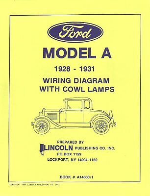 1928-31 Ford Model A Wiring Diagrams With Cowl Lamps