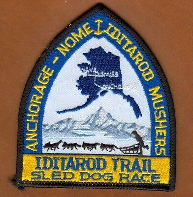 Schlittenhund Alaska Iditarod Musher Husky Aufnäher