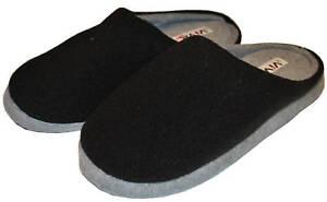 Herren-Pantoffel-Hausschuhe-schwarz-blau-oder-grau-Gr-40-41-42-43-44-45-46-Neu
