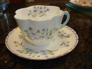 Vintage-SHELLEY-CUP-SAUCER-SET-Blue-Rock-13591