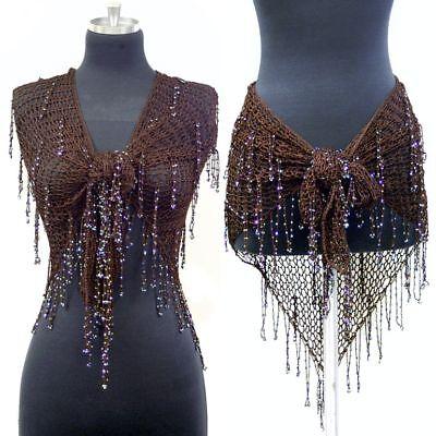 belly crochet beaded triangle wrap belt hip scarf ebay