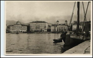 Cartolina-Italiana-1930-TRIESTE-Schiff-Hafen-Partie