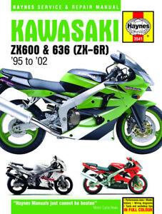 kawasaki zx600 zx 6r zx6r ninja 95 02 haynes manual new image is loading kawasaki zx600 zx 6r zx6r ninja 95 02