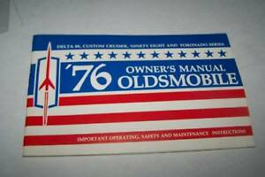 1976 OLDSMOBILE DELTA 98 88 car owners manual