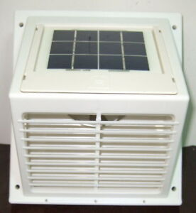 White solar ventilator wall fan swf 101 automatic kitchen - Solar powered extractor fan bathroom ...