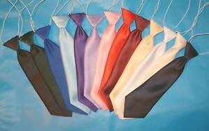 BOYS-TIES-SATIN-LOOK-TIE-WITH-ELASTIC-LOTS-OF-COLOURS