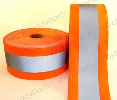 Reflective Material Fabric Tape Sew-on 4 12 Ansi Ii - Safety Orange