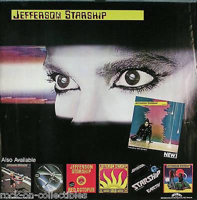 Jefferson Starship 1981 Modern Times Original Jumbo Promo Poster