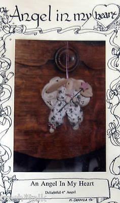 Tiny 4 Angel Bunny Rabbit Ornament Pattern Knob Hanger Country Primitive