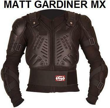 MOTOCROSS ENDURO BODY ARMOUR PROTECTION SUIT JACKET XX-LARGE BLACK QUAD