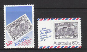 1981-Australia-UK-50th-Ann-1st-Airmail-MUH-Complete-Set