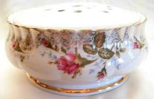 chodziez poland porcelain pot pourri with roses ebay. Black Bedroom Furniture Sets. Home Design Ideas