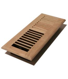 4x10 solid oak wood floor register unfinished ebay for 10 x 14 floor register