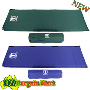 GREEN PORTABLE SELF INFLATING SLEEPING CAMPING MATTRESS AIR MAT BED INFLATABLE