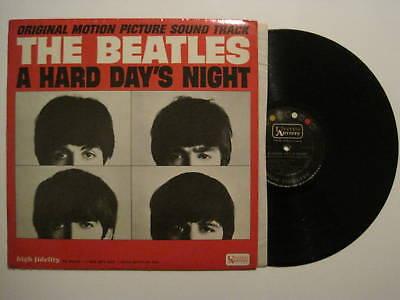 BEATLES-A-HARD-DAYS-NIGHT-LP-1964-MONO-ORIGINAL-U-S-A-FIRST-ISSUE-UNITED-ARTISTS