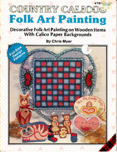 Craft books 1359 country calicos folk art painting for Folk art craft paint