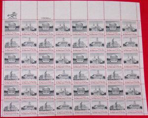 US-Sheet-1979-15c-Architecture-1779-1782-MNH