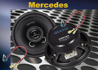 = Crunch 12cm Lautsprecher paar Mercedes W124 E-Klasse vorne Armaturenbrett
