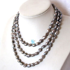 54-6-8mm-Dark-Gray-Baroque-Freshwater-Pearl-Necklace-Z