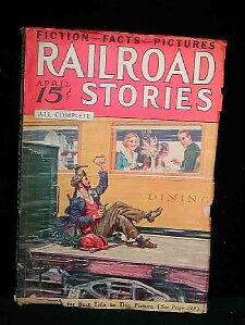 A Vintage Pulp RAILROAD STORIES - APRIL 1936 Full Issue