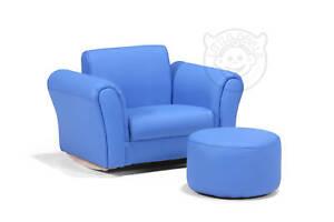 Fauteuil pour enfants bleu rocking chair en simili cuir lazybones ebay - Fauteuil en cuir pour enfant ...