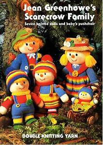 JEAN GREENHOWE KNITTING TOY PATTERNS SCARECROW FAMILY