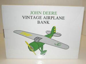 1/16 JOHN DEERE LOCKHEED VEGA 5B AIRPLANE BANK NIB