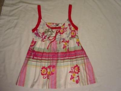 Scanty Floral W/ Plaid Pink Sweetheart Camisole S