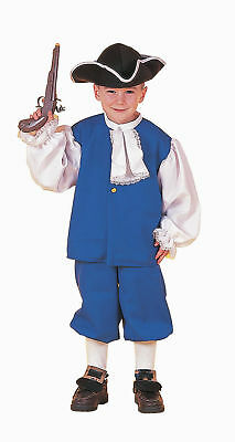 Colonial Boy Blue Costume Children's Size Med 8-10
