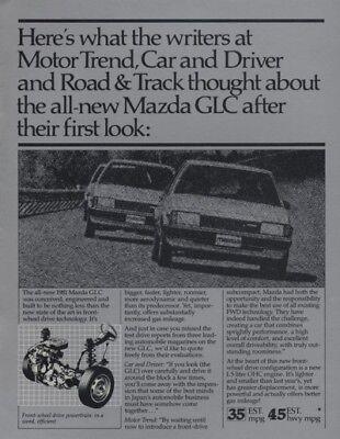 1981 Mazda GLC Road Test Sales Brochure Book