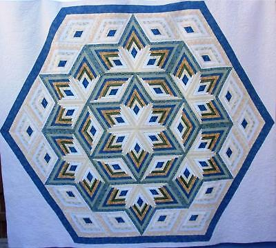 diamond star log cabin quilt pattern