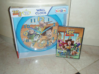 Toy Story 3 (dvd, 2010) & Wall Clock Both In Box