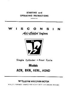 Wisconsin repair manual Acn Bkn