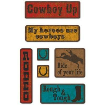 COWBOY UP 3d Chipboard Embellishments