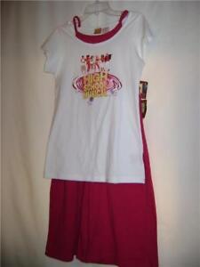 Girls-High-School-Musical-Gauchos-Pink-Top-XL-16-NWT