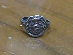 1940S?? VINTAGE *G-MAN* RARE SILVER RING NICE CONDITION!!!!MUST SEE