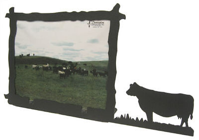 Cow 8x10h Black Metal Picture Frame