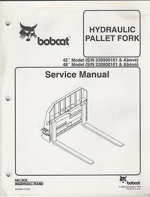 Bobcat Hydraulic Pallet Fork Service Manual 1999