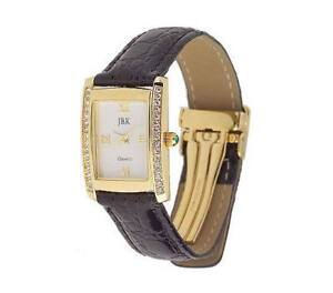 JACQUELINE-KENNEDY-RECTANGULAR-CASE-LEATHER-STRAP-WATCH