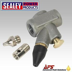 Sealey-SA905-In-line-Air-Blow-Gun-3-Nozzle-1-4-3-8-HOSE