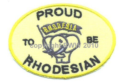 Rhodesia - Proud to be Rhodesian Iron On Patch