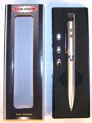 6 Laser Pointer Led Writing Pen Flashlight Novelty