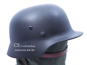 New WWII German Tactical M35 Steel Helmet replica Black