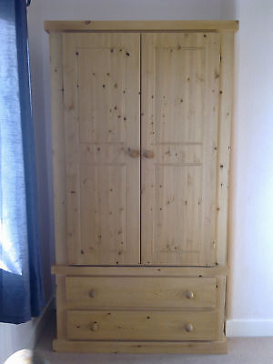 Pine Factory 2 Drawer Wardrobe Clearance Handmade Assembled