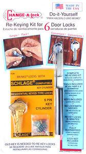 Brinks Schlage Cylinder Compatible 5 Pin Rekey Kit Ebay