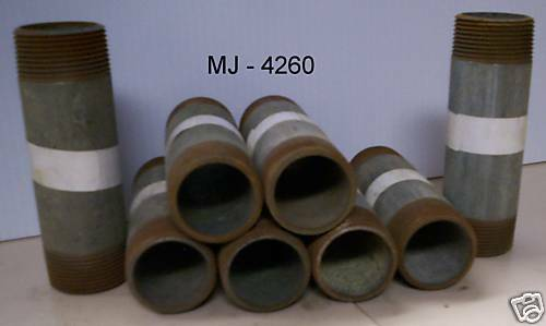 Lot of 8 – Galvanized Pipe Nipples  (NOS)