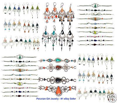 Natural Stone Jewelry Earrings Bracelets Alpaca Silver