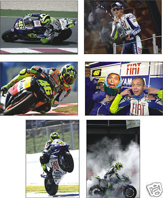 Valentino Rossi Superbike Legend  Set of 6 Postcard Set