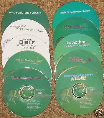 Book +FREE Kent Hovind Topical DVDs 10 Piece Lot NEW