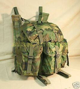 US-Military-Issue-WOODLAND-CAMO-ALICE-FIELD-COMBAT-PACK-Backpack-w-Straps-GC